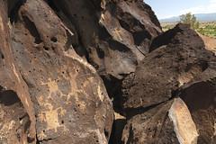 Petroglyphs and Valley (mstoy) Tags: petroglyph rockart lacieneguillapetroglyphsite