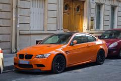 Spotting 2011 - BMW M3 GTS E92 (Deux-Chevrons.com) Tags: auto street orange paris france car sport automobile spot voiture exotic coche bmw spotted gt m3 rue luxury supercar spotting exotics gts sportcar prestige e92 croise bmwm3e92 bmwm3gts