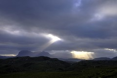 Searching for heaven (pauldunn52) Tags: light west highlands north dramatic sunbeam suilven assynt