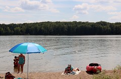 The Novel! (Haytham M.) Tags: trees sky lake ontario canada beach nature water swimming relax reading boat sand outdoor fresh 18200mm canont4i