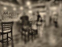 ..at the boathouse.. (xandram) Tags: people sepia bar photoshop manipulated boathouse tonemapped stratfordct
