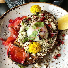 Fanciest Smashed Avocado Breakfast at Hobba