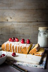 cherry loaf with almonds (magshendey) Tags: cake studio cherry baking foodphoto homebaking foodstyling