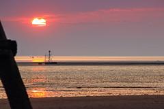 Perfect evening (saile69) Tags: sunset seaside sundown crosby merseyside irishsea rivermersey tide