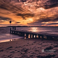 Fishing Buddies (Tim_Matthews IG @T.M_Photos) Tags: ocean water clouds port bay sand long exposure jetty australia nelsons filters stephens shoal nisi sunsent instagram