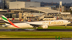 Emirates B777 (Green 14 Pictures) Tags: sunset sunrise canon airplane airport outdoor mark aircraft aviation air sydney australia super special emirates ii airline 7d smokey boeing airlines heavy 777 airfield avgeek 7d2 avporn