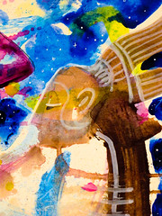 Chaman - Shaman - 20160614_IMG_3320 (_Loaf_) Tags: streetart art animal ink watercolor painting stuffed acrylic arte contemporaryart contemporary pastel kunst buddhism oil loaf psychedelic shaman mystic wallpaint chaman taoism brigade oilpastel guache humanism artasfood loafes stuffedanimalbrigade buttermilkloaf loafart