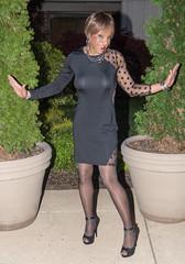 Being Flirty! (kaceycd) Tags: crossdress tg tgirl lycra spandex seethru seethrough mesh minidress pantyhose pumps anklestrappumps peeptoepumps opentoepumps highheels stilettoheels sexypumps stilettos s