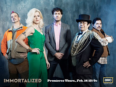 Immortalized, new unscripted original series, Premieres February 14, 2013. Season 1, Cast photos (Dr. Takeshi Yamada is the second from the right.), Copyright  2010-2013 AMC Network Entertainment LLC. All rights reserved. (searabbits23) Tags: ca ny newyork sexy celebrity art hat fashion animal brooklyn asian coneyisland japanese star tv google king artist dragon god vampire famous gothic goth uma ufo pop taxidermy vogue cnn tuxedo bikini tophat unitednations playboy entertainer oddities genius mermaid amc mardigras salvadordali performer unicorn billclinton billgates aol vangogh curiosities sideshow jeffkoons globalwarming mart magician takashimurakami pablopicasso steampunk losangels damienhirst cryptozoology freakshow leonardodavinci realityshow seara immortalized takeshiyamada roguetaxidermy searabbit barrackobama ladygaga climategate