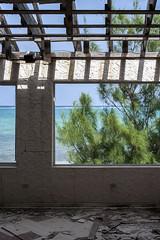 Outside In (-j-o-s-e-) Tags: blue trees sea sky seascape storm building abandoned beach window water open empty hurricane ivan ruin shore damage caribbean cayman wreck damaged reef wrecked