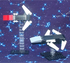 Knife and Axe Class Starships (Mantis.King) Tags: lego space scifi spaceship futuristic wargames moc microscale mechaton mfz mf0 mobileframezero legogaming interceptorbit