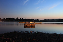 IMG_1749 (andrew_falce) Tags: night sky lake boat dock shore clouds stars nature