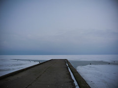 (Stereovisionblog) Tags: road white snow cold ice alone path lithuania