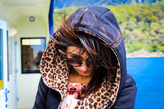 The Cool One!! (SafarNAAMAA) Tags: wife love honeymoon s selfie awestruck beautiful hot expressions new zealand newzealand queenstown milford sound cruise milfordsound canon milfordsoundcruise coldbreeze cold breeze sunny serene mothernature nature