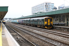 DMU Generations Meet (Jacob Tyne) Tags: cardiff central class 150 153 175 150232 fgw gwr green 153305 first great western railway blue 175101 arriva trains wales hst 43127