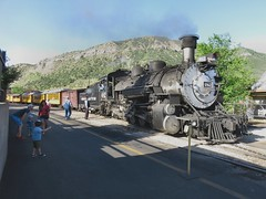 Kids love Trains (knutsonrick) Tags: steamengine durangosilverton narrowguage touristtrain durango colorado hikerstrain backpackers hikers kids trains