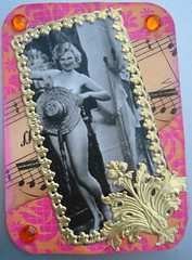 ATC Mama was a showgirl 060513 Available (ladychiara) Tags: atc collage vintage nude showgirl cutandpaste