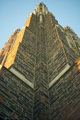skyward (2012) (dvsmith) Tags: sunset sky usa color stone architecture canon durham gothic northcarolina duke chapel nocrop dukeuniversity 1dmarkiii industar502f35 copyrightdanielvsmith thephotosmithcom