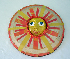 big yellow sun (playsculptlive) Tags: bird garden birdhouse polymerclay pcagoe may62013