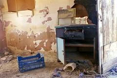 Old Cupboard (Jackobo) Tags: door wall cabin decay plastic greece hut ropes crate cupboard arta kopraina