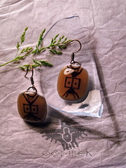 tribal earrings (OOMISEH) Tags: handmade tribal earrings nativeindian glassjewelry fashionjewelry        oomiseh