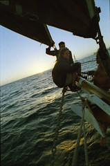 Cape Town South Africa Spirit of Victoria 58 foot Gaff Rigged Schooner Champagne Sunset Cruise March 5 1999 081 (photographer695) Tags: capetown south africa spirit victoria sunset cruise cape town 58 foot gaff rigged schooner champagne march 5 1999