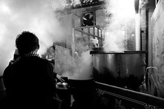 Film Noir (Emon) Tags: china travel winter people food cooking dark asia noir outdoor culture steam vendor orient steamy