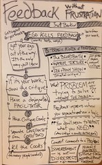 """Feedback without Frustration"" by @berkun at #AEASD #sketchnotes #AEA2013 (chadqmartin) Tags: feedback critique berkun sketchnotes uploaded:by=flickrmobile flickriosapp:filter=nofilter aeasd aea2013"