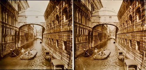 Italy Bridge of Sighs Venice c1910 stereo