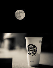 Night 16/366 (Umpire's Photographer) Tags: moon coffee night dark starbucks 365 366 20somethingcountry