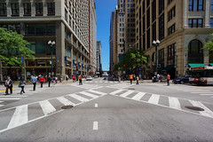 Chicago's First Pedestrian Scramble