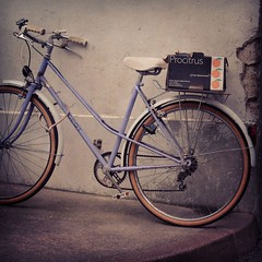 Bicycle in France (CreativeYoungsters) Tags: summer france bike bicycle vintage mood basket purple wheels sunny filter crop francais instagram