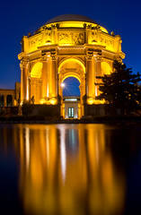 Palace of Fine Art-040.jpg (Ernest88) Tags: longexposure blue blur color art water fine palace hour bluehour palaceoffineart