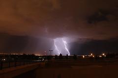 Lightning Strikes outside Albuquerque (CaptDanger) Tags: rain clouds lights bolt rainstorm lightning storms lightningbolt stormclouds lateatnight lightningbolts cloudsstormssunsetssunrises brightlightning