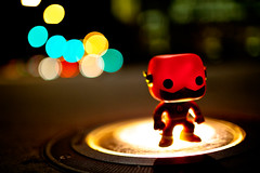 WANNA RACE? (espressoDOM) Tags: bokeh flash dccomics secretlifeoftoys funko theflash espressodom vinyltoys bokehdots