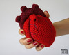 Anatomical heart (Momou crochet) Tags: red art blood heart handmade crochet cuore aorta anatomical anatomico uncinetto momou claudiazini momoucrochet