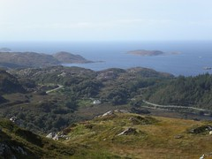 Looking down on Lochside from Cnocnaneach