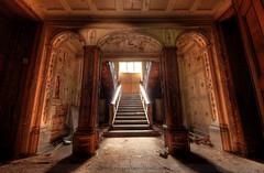 Now where's the Bellboy... (Sshhhh...) Tags: urban abandoned stairs insane explore pillars exploration asylum derelict urbex sshhhh
