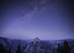 Glacier point with Milky way (3dRabbit) Tags: clear cold pink blue evening usa ca nationalpark flicker stars sky photography sungjinahn wallpaper macosx apple glacierpoint milkyway night yosemite elcapitan cloud outdoor monochrome mountain landscape el capitan