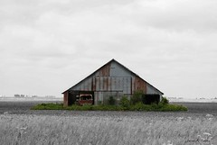 Iowa Island (David Sebben) Tags: county abandoned barn truck ir island grain iowa international henry colorized tropics harvester cabover