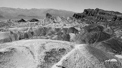 Zabriskie Point, Death Valley (Seth Berry Photography) Tags: california park bw white black mountains hot lines yellow rock stone point death sand view desert dry national valley deathvalley peaks zabriskie zabriskiepoint formations sethberryphotography