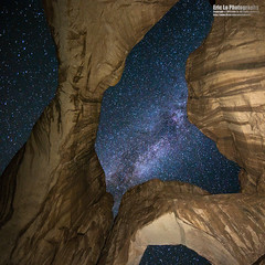 look into the sky (Eric 5D Mark III) Tags: longexposure sky usa texture rock night canon square landscape photography star utah arch unitedstates wideangle arches 11 galaxy midnight moab archesnationalpark stargazing milkyway doublearch 14l ericlo ef14mmf28liiusm eos5dmarkiii 5d3