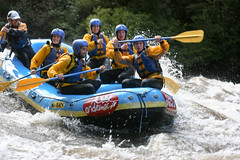 Rafting down the Trancura River (poulet4amy) Tags: chile patagonia rafting pucon trancura