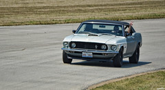 Peace Out (Chad Horwedel) Tags: classic ford car illinois autobahn mustang fordmustang joliet paradelap