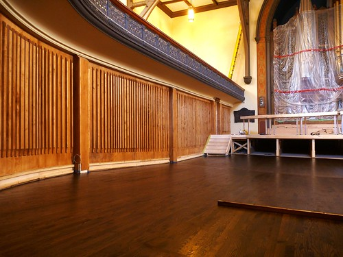Stained floors and acoustic walls