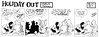 Holiday Out 793 (Michael Vance1) Tags: art comics monkey artist satire humor jungle comicbook parody comicstrip satyr cartoonist funnyanimals