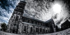 Dichotomy (Yam Amir) Tags: blue winter light sky urban bw sun white black lund contrast dark day shadows cathedral sweden sony yam hdr lightroom nex mirrorless sel16f28 vclecf1 nex6 yamamir