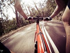 waterfall downhill (AlistairKiwi) Tags: park bike bicycle waterfall sydney royal australia national nsw hero fixie wollongong gopro msgongride