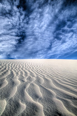 Sand And Sky (howardignatius) Tags: morning sky newmexico texture clouds sand whitesandsnationalmonument