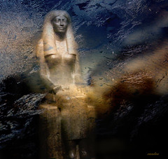~ancient (xandram) Tags: statue photoshop ancient textures egyptian bostonmfa